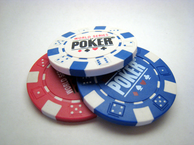 """Poker Chips"" by Logan Ingalls. Licensed CC-BY."
